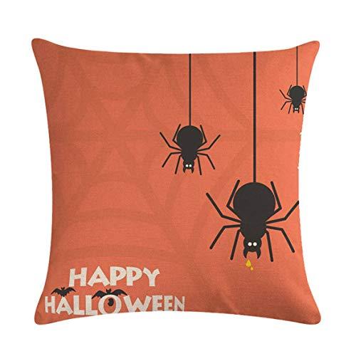 Kongqiabona Halloween Spinne Serie Gedruckt Home Cover Einfache Design Werfen Kissenbezug Kissenbezüge für Home Office Auto (Office Einfache Halloween-kostüme)