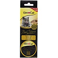GimCat patentado Deluxe con ternero (Pack de 8, 8x 63g)