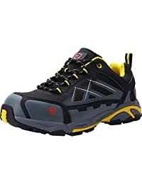 LARNMERN Zapatos de Seguridad con Punta de Acero S3 SRC,LM-201,Hombres Anti-aplastamiento A Prueba de Pinchazos,Zapatillas Industriales y de Construcción Antiestáticos