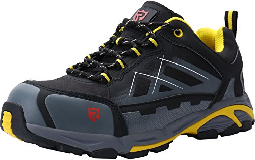 LARNMERN Mens Steel Toe Cap Safety Trainers Reflective Strip SRA Non-Slip Wear-Resistant Steel Midsole Work Shoes