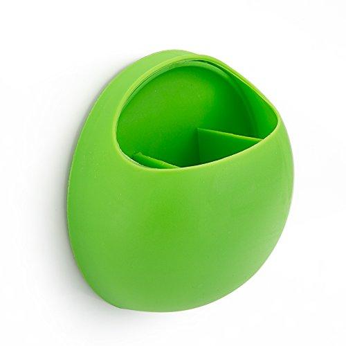 Rusty Bob - Zahnbürstenhalter / Zahnpasta / Besteckaufbewahrungs halterung mit Saugnapf für Bad oder Küche (Grün einzeln)