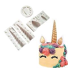 Idea Regalo - Tumao 3D Stampo in Silicone Muffa in Silicone Forma di Unicorno DIY Stampo per Dolci, Adatto ad alte e basse temperature-Decorazione delle Torte