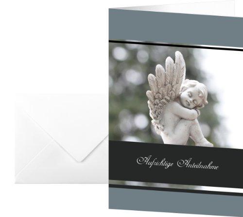 Sigel DS007 Trauer-Karten Im Gedenken, 10er Set mit Umschlägen