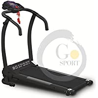 GO SPORT Tapis ROULANT Elettrico Pieghevole, Senza SENSORE Cardio, Motore Elettrico 1HP (2,5 HP Picco)