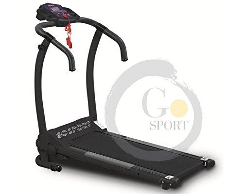 Go Sport - Cinta de correr eléctrica Plegable, Sin Sensor Cardio, Motor eléctrico 1 HP (2,5HP máx.)