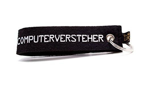 Filz Schlüsselanhänger Computerversteher für Geeks, Nerds und Computer-Freaks (Gadget und Geschenk) original von Luxflair®