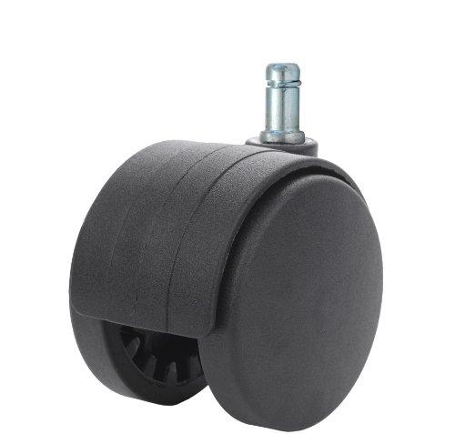 """Doppel-Caster mit twhn-60N-g20-bk 2.36, Durchmesser Nylon mit Kapuzen non-brake Caster, Durchmesser 7/16"""" x 7/8Länge Mit Griff aus LB, 132, Serie"""