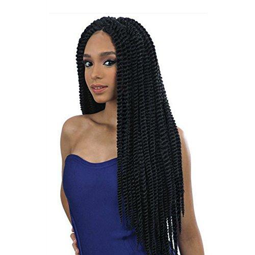 newfeibin Kunsthaar geflochten Spitze vorne Perücke für schwarz Frau natur schwarz Farbe