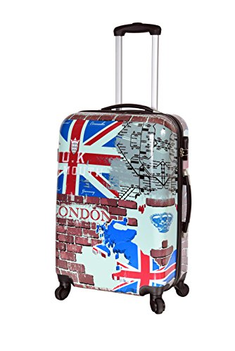 LONDON - Valise trolley rigide 4 roues 68 cm - ABS/PC -...