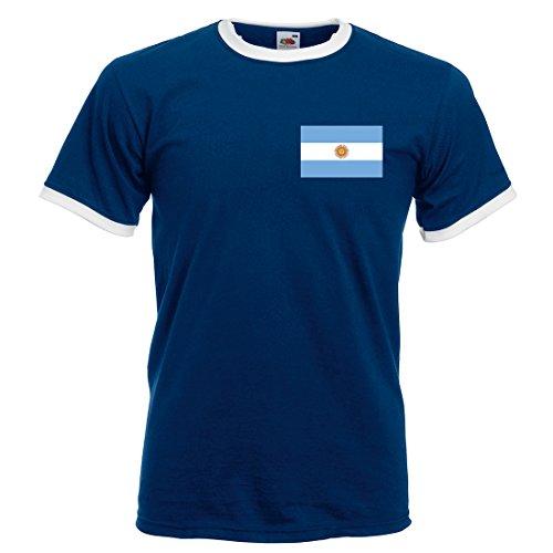 Printmeashirt Hombre Retro Messi Argentina fútbol