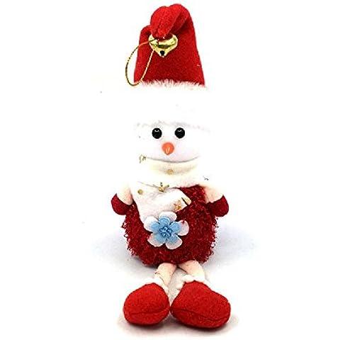 regalos de la decoración de Navidad del muñeco de nieve que cuelga del pie marioneta de la muñeca adornos de muñecas modelos exclusivos con campanas , red