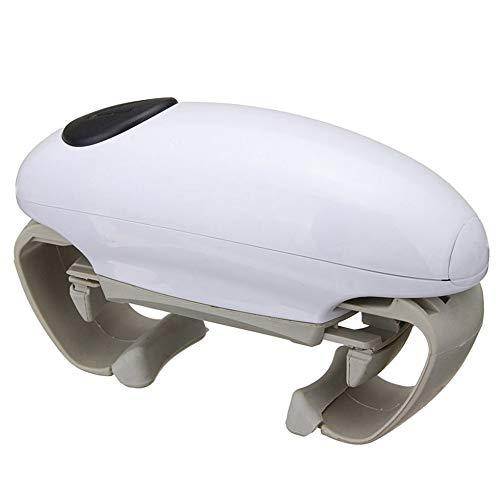 Apribottiglie automatico per barattoli, apriscatole, apribottiglie elettrico, utensile da cucina, colore: bianco