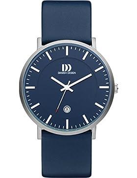 Danish Design Herren-Armbanduhr Analog Leder Blau DZ120536