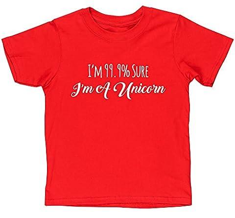 HippoWarehouse - T-shirt - Fille - rouge - 4 ans