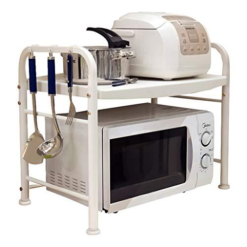 Wandregal Xiuyun Mikrowellenherd-Regal 2-Schicht-Küche liefert Speicher Countertop Reiskocher Ofen (Farbe : Ivory White, größe : 63 * 42.5 * 38.8cm)