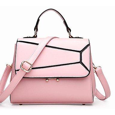 SUNNY KEY-Borsa a tracolla @ Donna Borsa a tracolla PU (Poliuretano) Per tutte le stagioni Casual Cerniera Nero Rosso Rosa , blushing pink black