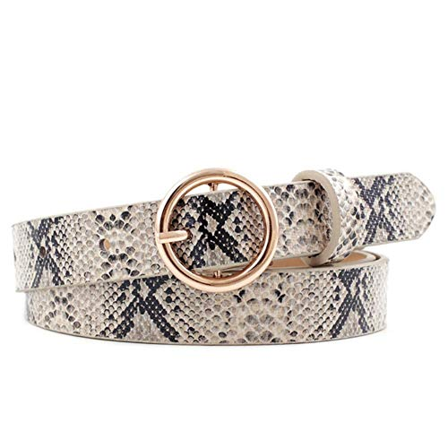 Blentude - Cinturón de Piel para Mujer, con Hebilla de aleación, para Todas Las Estaciones, con Hebilla, cinturón Decorativo para Pantalones Vaqueros, Faldas, Chaquetas, Vestidos, Serpiente
