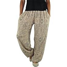 virblatt pantalones hippies mujer y pantalones anchos de vestir ligeros para mujeres y hombres como pantalones hippies de S-L de impresión de alta calidad de un solo tamaño para todos - Gemütlich