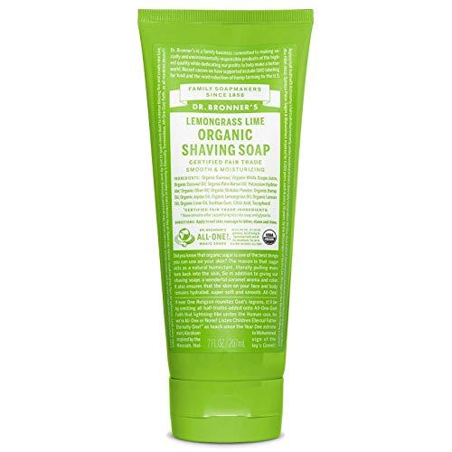 Dr Bronner | Org Lemongrass and Lime Shaving soap Gel 208ml | 3 x 208ml (DE) - Lime Shaving Gel