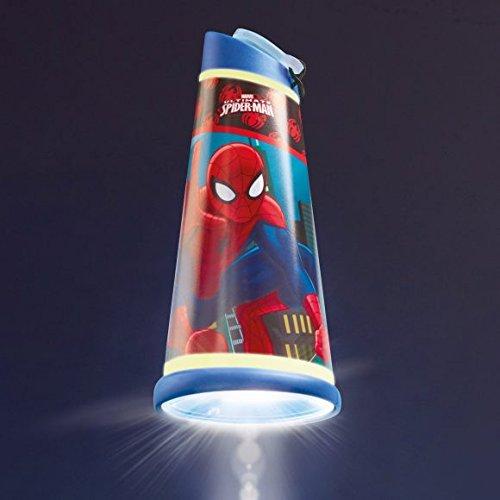 """Preisvergleich Produktbild 2 in 1 Nachtlicht + Taschenlampe """"Auswahl"""" Minions - Frozen - Star Wars - Cars - Minnie Maus - Princess - Nachttischlampe (Spiderman)"""