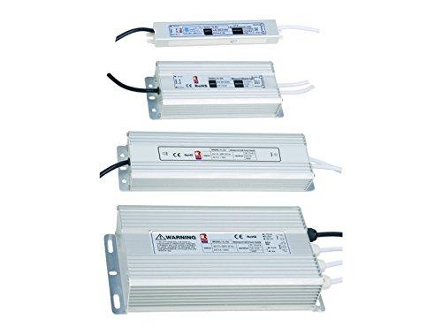 25W - 200W 12V LED Trafo Wasserdicht IP65 Netzteil Treiber Aluminium Driver Transformator Streifen Stripe Metall Adapter Spannungswandler (25W 2A)