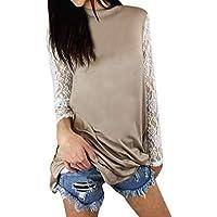 Geili Damen Damen Bluse, Frauen Elegant Spitzen Blusen Lässige Langarm Shirts Vintage Spitzenbluse Casual Rundhals... preisvergleich bei billige-tabletten.eu