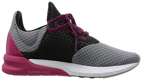 adidas Falcon Elite 5 W, Scarpe da Corsa Donna Multicolore (Grey / Pink / Black - GRIMED/ROSFUE/NEGBAS)