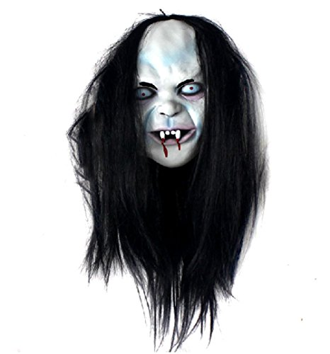 Halloween Terror Hexe Maske Scary Zombie Food Grade Natürliche Latex Sicherheitsfarbe Malerei Simulation (Vogelscheuche Kostüm Scary)