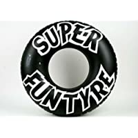 "PMS 36"" BLACK TYRE SWIM-RING (8G) W/SUPER FUN TYRE PRINT"