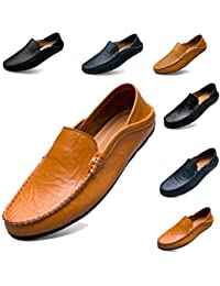 c9e35f9e4e Sunny Holiday Classic Scarpe da Uomo Mocassini Slip On Pelle Penny Loafers  Casual Eleganti Scarpe da