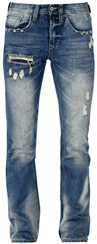 Black Premium by EMP Pete Destroyed (Straight Fit) Jeans blau Blau
