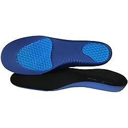 Plantillas ortopédicas Sole Control Ultra ligeras, soporte para el arco, almohadillas de gel para el talón y metatarso (M (EU 40-42.5))