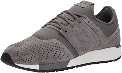New Balance Herren 247v1 Sneaker, Grau (Grey/White Ly), 46.5 EU Lace Up Suede Sneakers