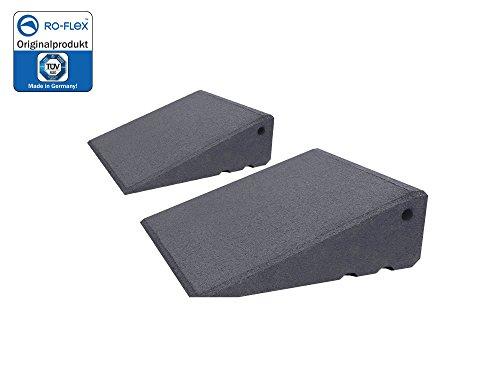 Türschwellenrampen Set Excellent 250/95 mm hoch aus Gummigranulat hochverdichtet (grau)