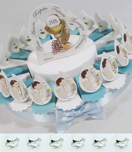 Bomboniere comunione battesimo cresima con torta bomboniera spedizione gratis kkk (torta 20 gocce bambino)