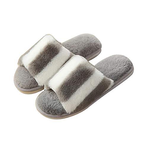 Anlei ciabatte donna maschi materiale morbido e confortevole suola in pvc slittata resistente all'usura mantieni caldo al coperto scarpe da casa autunno inverno