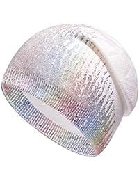 Easy-topbuy Cappellino in Maglia Elastica di Moda Morbido Beanie con Fodera  in Lana Finta Ultraleggero Traspirante per Lo Shopping f42479ed15af