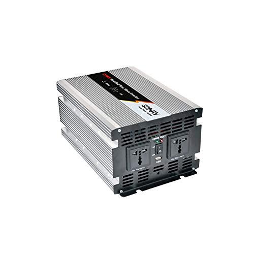 Especificación Potencia nominal: 3000W Potencia máxima: 6000W Onda de salida: Onda sinusoidal modificada Voltaje de entrada DC: 12/24 / 48V Voltaje de salida de CA: 220V Frecuencia de salida de CA: 50 Hz Eficiencia: 85% Tamaño: 288 * 180 * 128 mm Us...