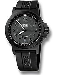 Oris BC3 Advanced Day Date Automatik Uhr, Oris 735, Schwarz, Kautschukband