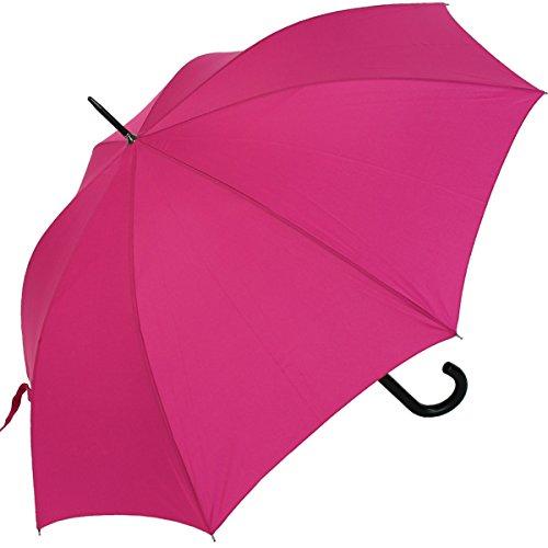 RS-Stockschirm groß stabil für Damen und Herren mit Automatik- pink
