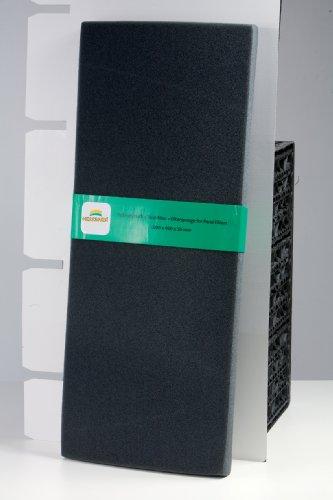 Heissner - mousse de filtration fine - 100 cm x 40 cm x 5 cm - noire