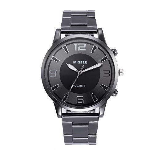 NINGSANJIN Herrenuhren schwarz matt Armbanduhren für Herren Gold Silber