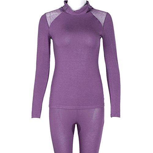 Herbst Kleidung Long Johns Anzug/Frau dünnen Abschnitt hoher Kragen feste Körper Thermo-Unterwäsche/ sexy Dessous A