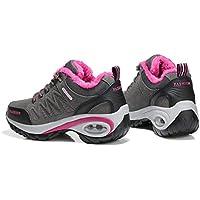 Cojín de Aire para Mujer Zapatos para Correr Peso Ligero Transpirable Suela Gruesa Algodón Acolchado Calientes Calzado Invierno otoño Calzado Deportivo - Gris 35