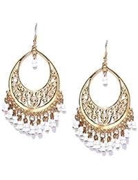 Bellofox latest Helena Moon White color Artificial Stone Earring for Women/Girls
