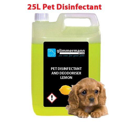 Glimmermann Products Pet Disinfectant and Kennel Deodoriser Cleaner Lemon 25L
