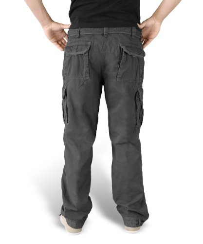 Surplus Herren Cargo Hose Premium Vintage Trousers Noir - Noir camouflage