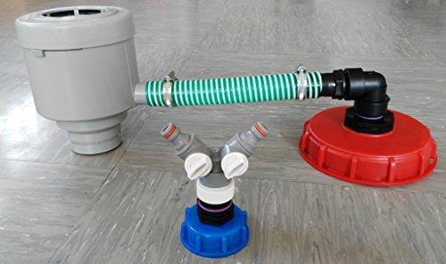 GRAF garantia cMGG21DK150R13599Y-fallrohfilter avec tuyau, grelots, caoutchouc, angle, réduction bouchon 150 mm pour raccord en y avec bouchon s60 x 6-tank-conteneur iBC adaptateur fitting-- bidon-fût-eau