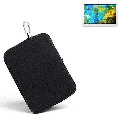 K-S-Trade® für BQ Edison 3 Neopren Hülle Schutzhülle Neoprenhülle Tablethülle Tabletcase Tablet Schutz Gürtel Tasche Case Sleeve Business schwarz für BQ Edison 3