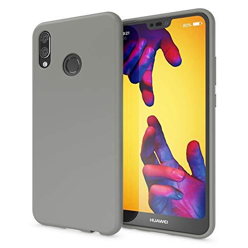 NALIA Neon Custodia Protezione compatibile con Huawei P20 Lite, Cover Ultra-Slim Neon Smartphone Case Etui Protettiva in Silicone Gel, Gomma Telefono Cellulare Bumper Sottile, Colore:Grigio